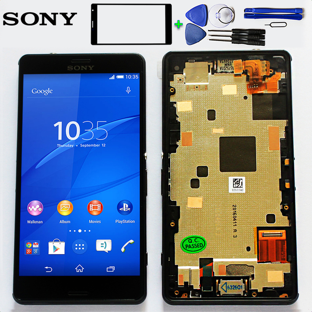Sony 4.6 inch LCD display For Sony Xperia Z3 compact D5803 D5833 Digitizer Sensor Z3 mini Assembly Frame with Free Tools