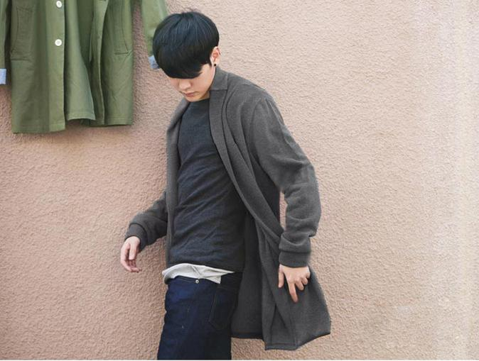 The Spring of 2016 new tide male long sweater Japanese youth fashion and comfortable