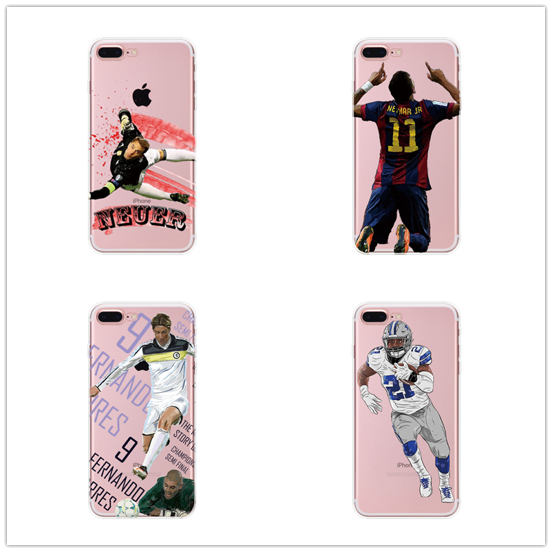 For Iphone 5 5s 6 6s 7 7plus 8 Plus Plus Football Superstar Winner Football Basketball Mba Soft Tpu Football Clear Phone Case image