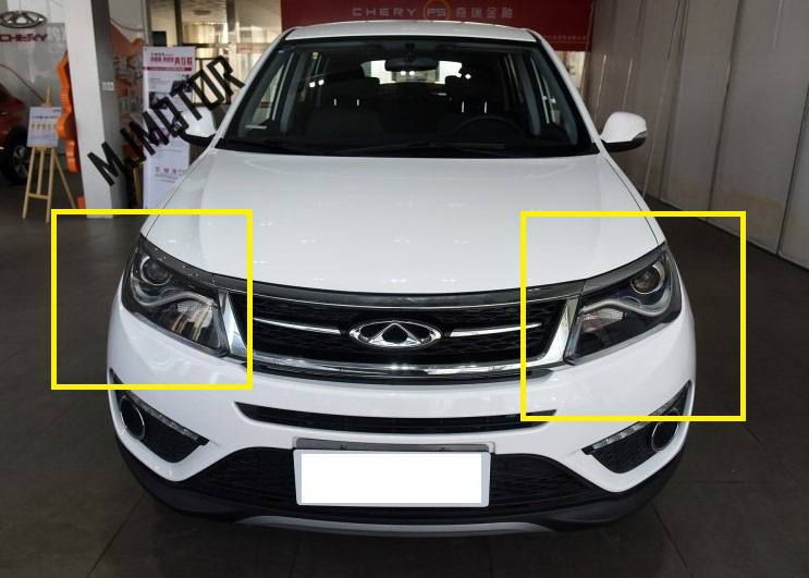 2016 2017 New Front Head lamp assy left and right side for Chinese CHERY TIGGO 5