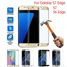 For Samsung Galaxy S6 Edge S7 S7 Edge Tempered Glass 3D Curved Full Cover Screen Protector Toughened Film Cover Foil For S7 Edge