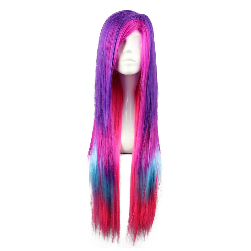 Synthetic Wigs Mcoser 55cm Long Multi-color Beautiful Lolita Wig Anime Wig And To Have A Long Life.