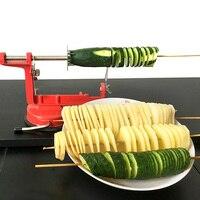 Manual Stainless Steel Sweet Potatoes Machine Potato Slicer Potato Spiral Cutter DIY Potato Chips For Kitchen