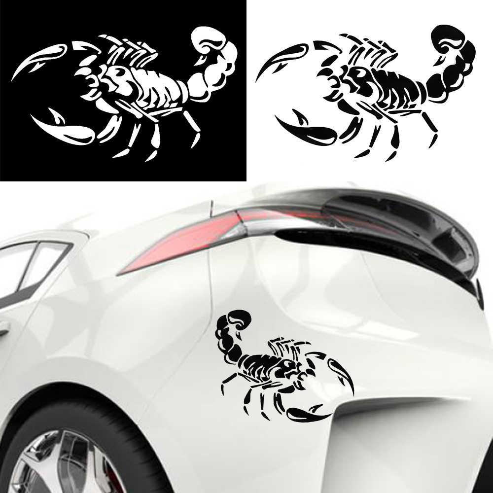 2018 Hot sprzedaż moda 3D duży skorpion odblaskowe spersonalizowane Car Styling zderzak naklejki Vinyl kalkomania zarysowania ciała pokrywa