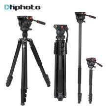 Coman Professional Aluminum Camera Video font b Tripod b font 1 8m with 360 Degree Fluid