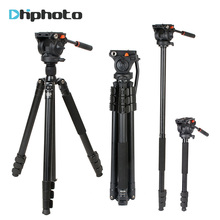 Coman Professional Aluminum Camera Video Tripod 1.8m with 360 Degree Fluid Head for Camcorder for Nikon Canon Sony Camera