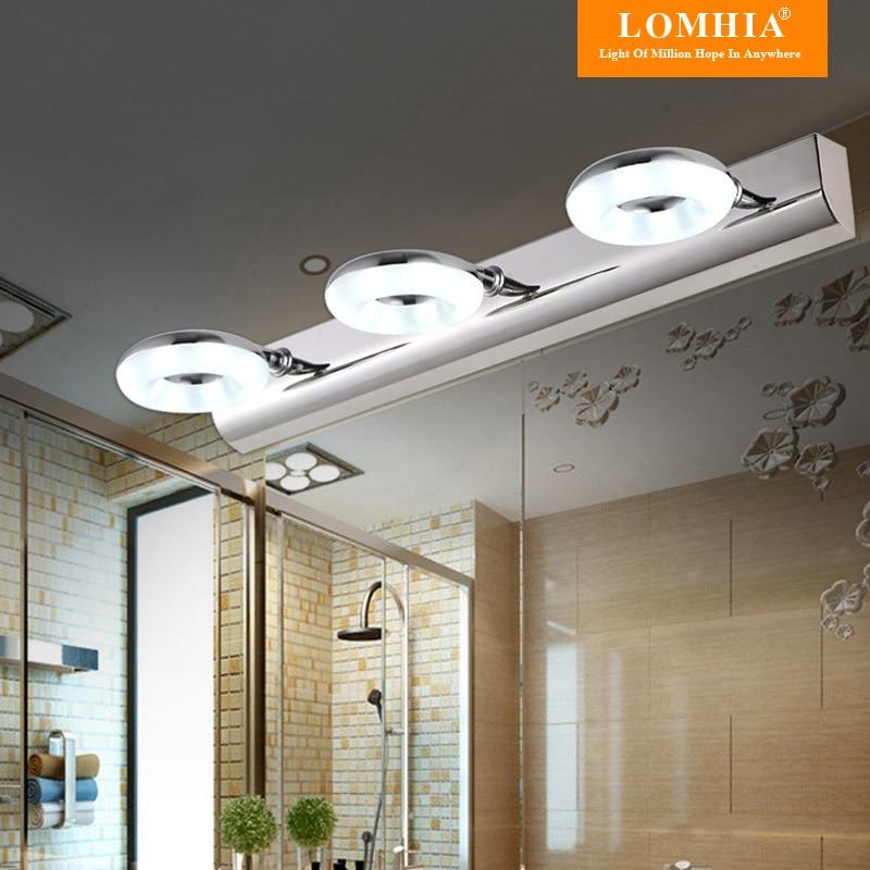 US $38.0 |Modernen FÜHRTE Spiegel lichter edelstahl 2/3 lichter bad lampen  spiegel schrank dekoration wandleuchte nachtlicht led lampe-in ...