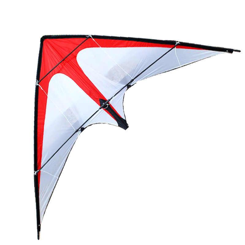 Frete grátis diversão ao ar livre esportes nova dupla linha dublê kites/vermelho setas kite com alça e linha bom vôo