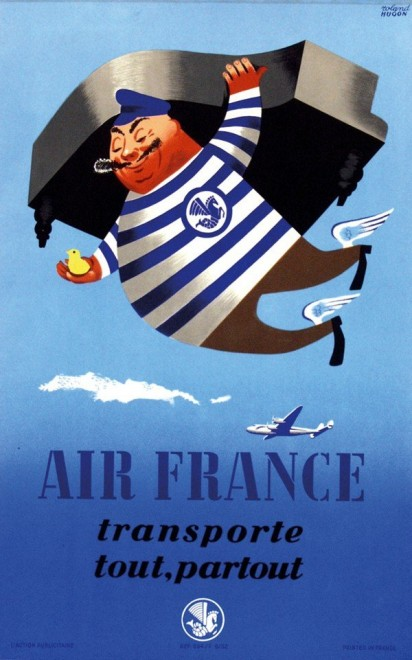 transporte tout partout air france vintage retro decorative frame poster diy wall sticker home. Black Bedroom Furniture Sets. Home Design Ideas