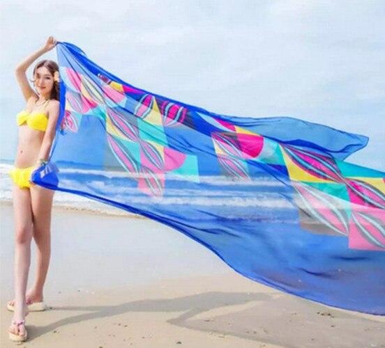 41b4d89b5c Women Cover-Ups Hot Sale Flower Print Women Sexy Chiffon Bikini Cover Up  Beach Swimwear Dress Scarf Pareo Sarong Wrap