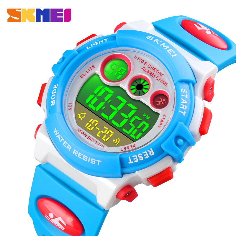 SKMEI Children LED Digital Watch Boys Waterproof Sports Watch Kids Alarm Fashion Watch For Children Girl Gift Relogio Infantil