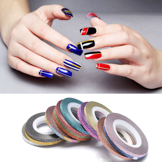 1pcs New Nail Stickers Matte Scrub Metal Gold Silver 1mm 2mm 3mm Art Striping Tape