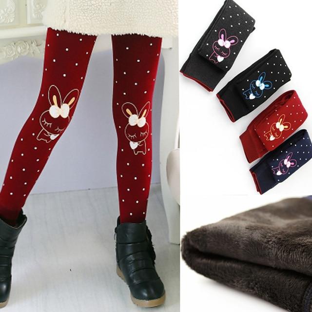 Зимняя одежда наивысшего качества 2017 зимние леггинсы для девочек с принтом из плотного флиса теплые детские штаны с эластичной талией для детей леггинсы для девочек