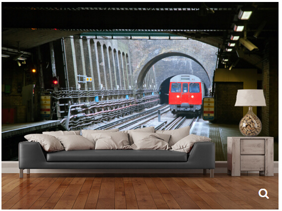 Compare prices on london train online shopping buy low for Decor mural underground