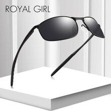 Royal Girl Fashion DESIGN Men Classic HD Polarized Pilot Sunglasses Alloy Temple Driving Eyewear UV400 Protection ms020