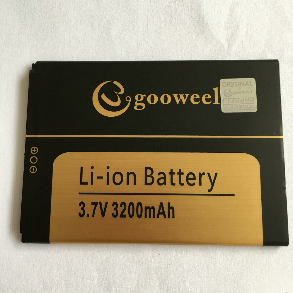 Battery For Gooweel M3 MTK6580 6.0 inch Mobile phone 3200mA Li-ion Batteries Bateria 100% Tested In stock