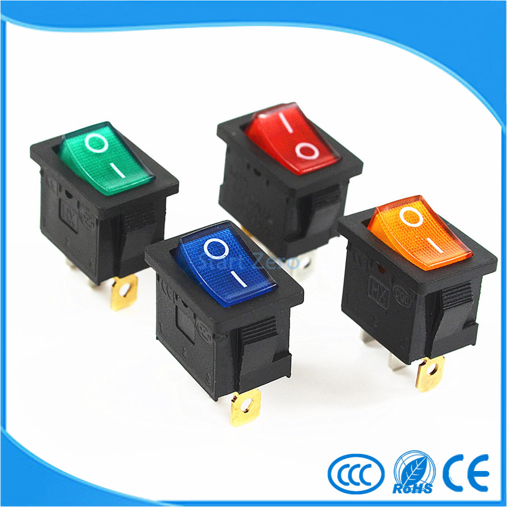 KCD3 Red Button On-Off 3Pin DPST Boat Car Rocker Switch 6A/10A 250V/125VAC 10pcs lot ac 6a 250v 10a 125v red light 3 pin on off spst snap in boat rocker switch g205m best quality