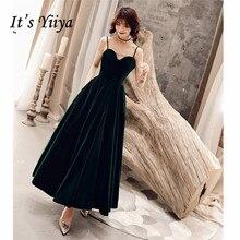Это YiiYa вечернее платье Спагетти ремень с открытыми плечами длинное женское вечернее платье Глубокий v-образный вырез с открытой спиной платье размера плюс E520