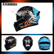 Fashion Full Face Cool Motorcycle Helmet Racing Motocross Off Road Kask Casco Moto Motociclista DOT Approved