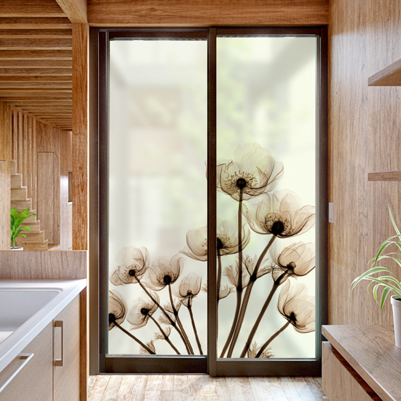 Window sticker living room bedroom sliding door decoration ...