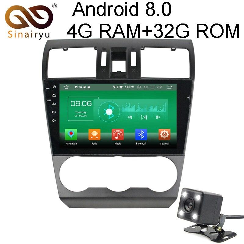 Sinairyu 4G RAM Android 8.0 DVD De Voiture Pour Subaru Forester 2014 2015 2016 Octa Core 32G ROM Radio GPS Multimédia Lecteur Tête Unité