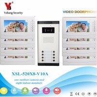 Yobang безопасности 3 до 12 бытовой аудио визуальный семей видео Звонок домофона ЖК дисплей мониторы ИК домофона для многоквартирных