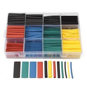 Image 2 - 530 قطعة متعدد الألوان الحرارة يتقلص أنابيب العزل تقلص تشكيلة الإلكترونية نسبة البولي أوليفين 2:1 التفاف كم أنبوب عدة