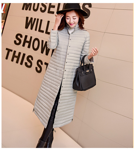 Europeu de alta qualidade Ultra Light 90% Duck Down Jacket Slim Fina plus Size Mais Quente Longo Casaco de Inverno Para Baixo Parkas para As Mulheres 3XL