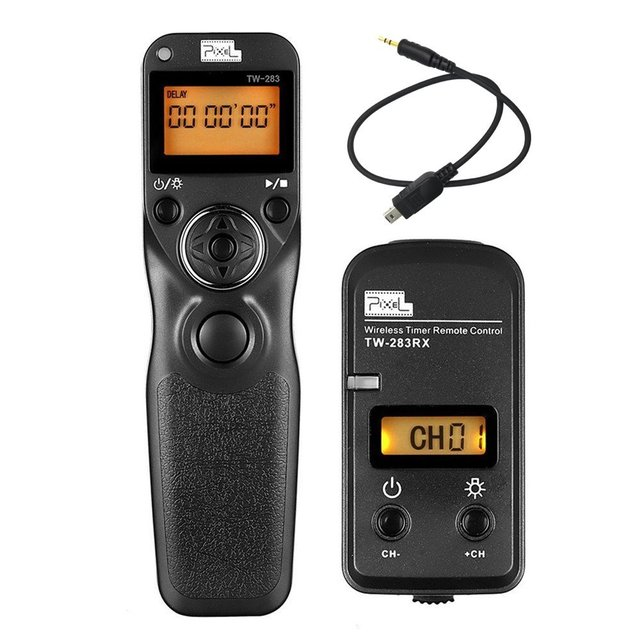 جهاز تحكم عن بعد بمؤقت لاسلكي من بيكسل TW 283 DC2 لـ Nikon Df D7300 D7200 D7100 D5500 D5300 D5200 D5100 D5600 D750 D610