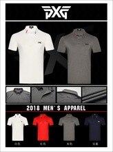 Гольф Футболка мужская спортивная одежда с коротким рукавом PXG Гольф футболка 8 цветов Одежда для гольфа S-XXL в выборе Досуг Гольф рубашка Бесплатная доставка