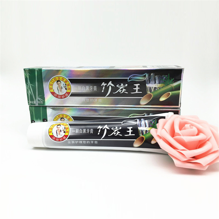 2017 A# 105g Health Care Bamboo Charcoal All-purpose Teeth Whitening The Black Toothpaste 1PCS 2