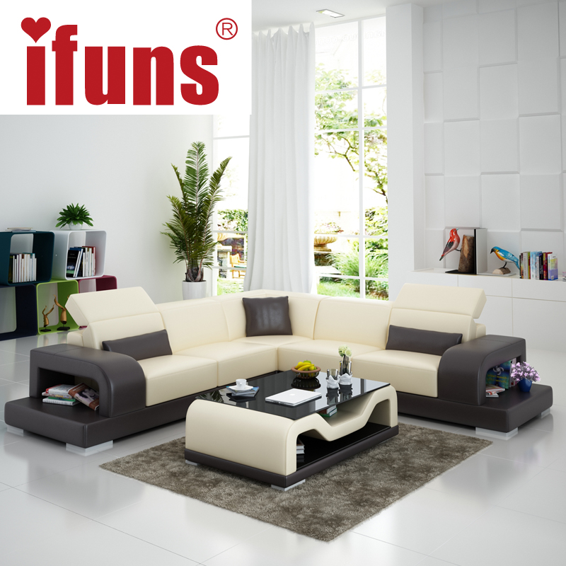 IFUNS cheap sofa sets home furniture wholesale white leather l shape ...
