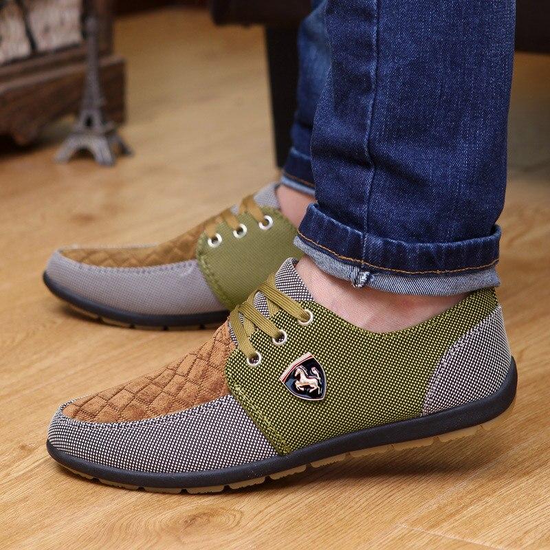 2019 Shoes Men Flats Canvas Lacing Shoes Breathable Men Casual Shoes Fashion Sneakers Men Loafers Wholesale Men 39 S Shoes 4
