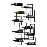 Середине века винный шкаф настенный 10 бутылки, металлические стеллажи