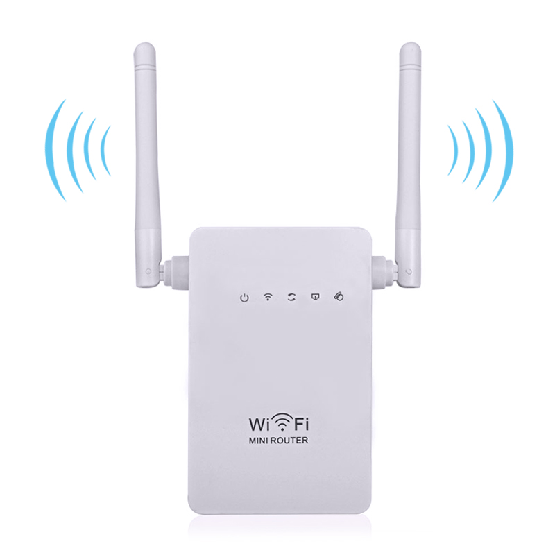 Wireless Wifi Router Mini Router 300Mbps Dual Antenna 2.4Ghz Wi-fi Repeater Range Signal Expander 802.11 b/g/n Wifi Router roteador repetidor wifi mi router hd version wifi repeater 2533mbps 2 4g 5ghz dual band app control wireless metal body mu mimo