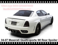 Quattroporte Rear Spoiler WI Style Wing Fiberglass Unpainted Boot Lid Trunk Wing For Maserati