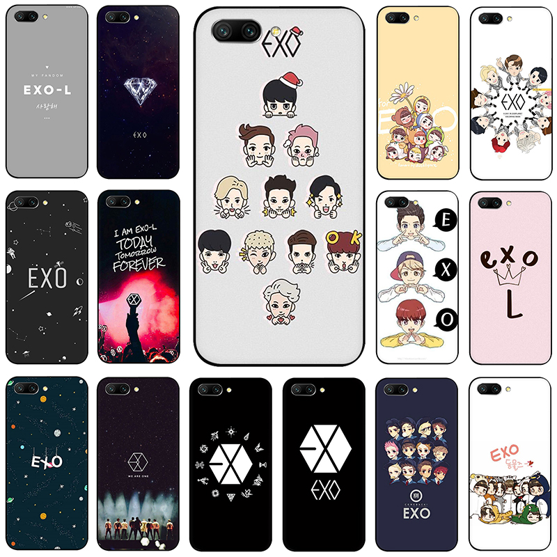 <font><b>Kpop</b></font> exo Lucky one Silicone <font><b>phone</b></font> <font><b>case</b></font> for Huawei Honor 6A 7A Pro 7C 7X 8 9 10 Lite 8X 8C view 20 9X Pro image