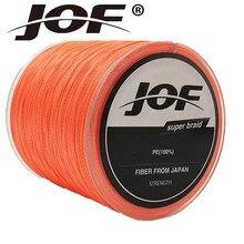 JOF 4 Fios 500 M Série Super Strong Japão Multifilament PE Linha De Pesca Trançada 8 10 20 30 40 60LB