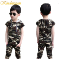 Kindstraum Boys Clothing Sets 2pcs T shirt+ Pant Summer New Kids Chidren Camouflage Style Sports Tracksuits Casual Outwear,MC379
