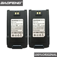 2 peças 100% original baofeng UV 9R walkie talkie 7.4v 2200mah li ion bateria para pofung uv 9r rádio em dois sentidos uv9r woki toki