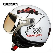 МОДА Подлинная BEON половина лица мотоциклетный шлем ABS половина обложка стиль Ретро Ввс B-100 Harley стиль мотоциклетные шлемы