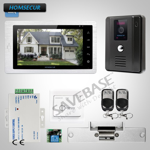 HOMSECUR 7inch Wired Video Door Entry Phone Call System With Black Camera + Vandal-proof Design And Waterproof Cover