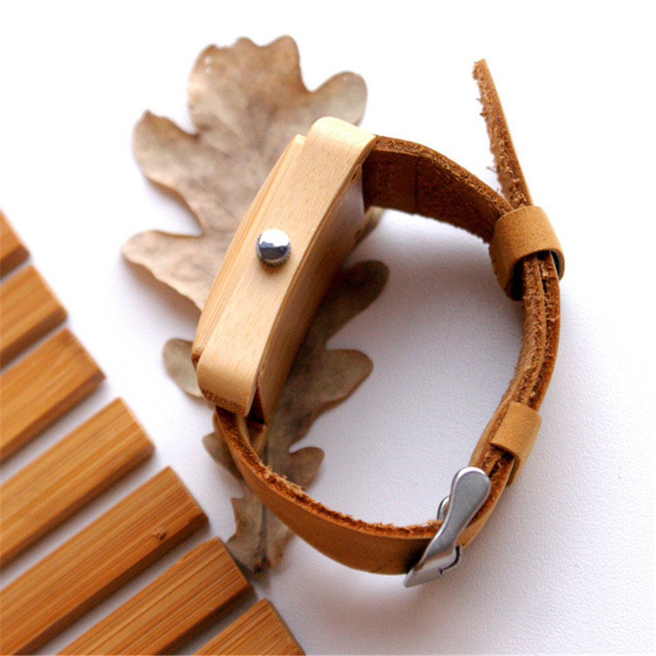 genuine leather band nature wood watch04