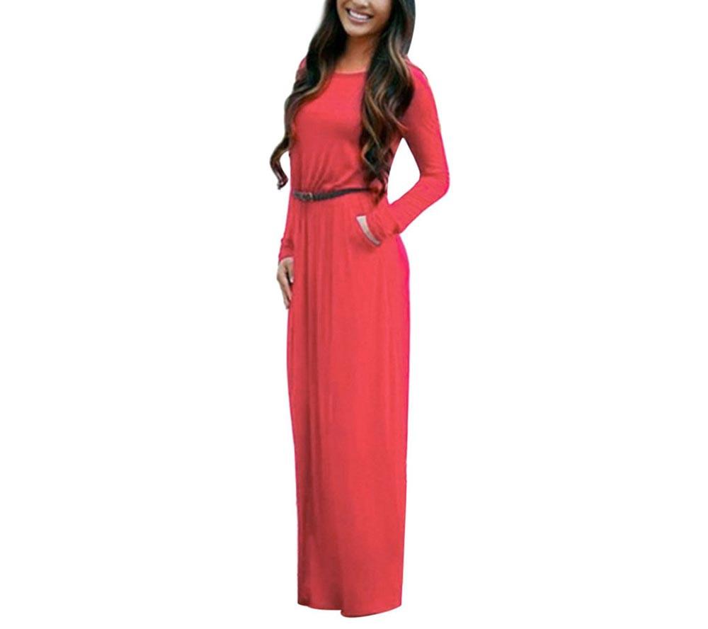 VESTLINDA Vintage Vestidos Longo Jurken Women Maxi Dress Full Sleeve Casual Dress Autumn A Line Solid Ropa Mujer Long Dress 11