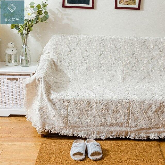 new cotton throw blanket sofa tv thread blanket decorative slipcover rh aliexpress com  large throw blankets for sofa