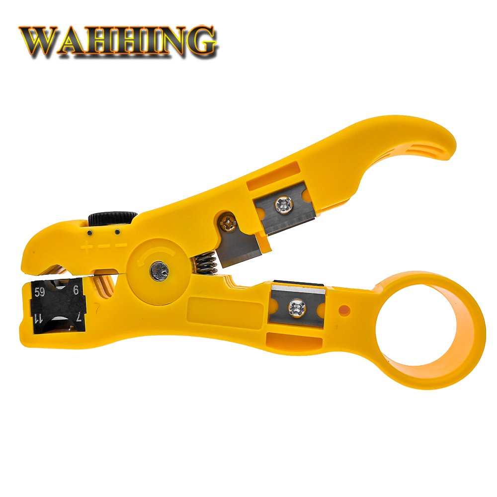Rj45 ethernet Wire Cable Stripper Herramientas de pelado eléctricas rj45 cuting Alicates de engarce para UTP STP RG59 RG6 RG7 RG11 RJ45 HY1531