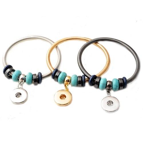 2f3ab49a97f4 P00408 moins cher bricolage en cuir véritable Rivca bouton pression bijoux  bracelet réglable