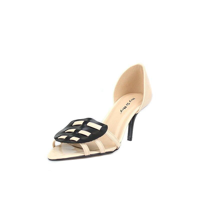 Talon Femmes En Sandalia Chaussures black Mujer 48 Beige Cuir Feminina Taille Sandales Sandalias red Nouveau Femme 2018 35 Bloc Ue Grande Véritable YPwxfTqf