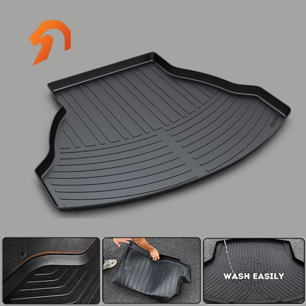 Custom fit car trunk mat for HONDA ACCORD Crosstour JEDA Crider HRV BOOT LINER REAR TRUNK CARGO MAT FLOOR TRAY CARPET MUD COVER car rear trunk security shield cargo cover for honda fit jazz 2008 09 10 11 2012 2013 high qualit black beige auto accessories