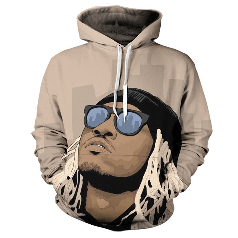 Real American size future 3D Sublimation Print OEM Hoody/Hoodie Custom made Clothing plus size